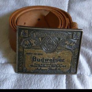 Budweiser Belt Genuine leather Size 36 Tan
